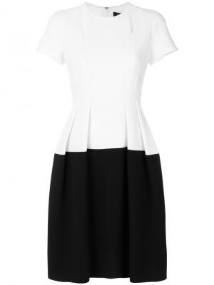 Расклешенное платье Paule Ka. Цвет: белый
