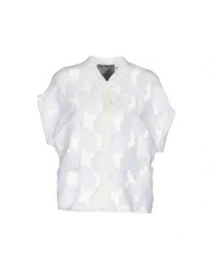 Pубашка ES'GIVIEN. Цвет: белый