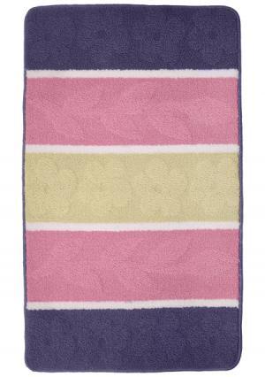 Коврик для ванной Tete-a-Tete. Цвет: розовый (розовый/синий)