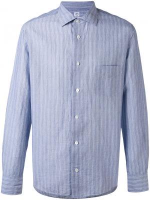 Полосатая рубашка Danolis. Цвет: синий