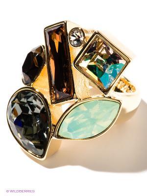 Кольцо Jenavi. Цвет: золотистый, желтый, темно-зеленый, светло-зеленый