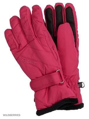 Перчатки Ziener. Цвет: розовый
