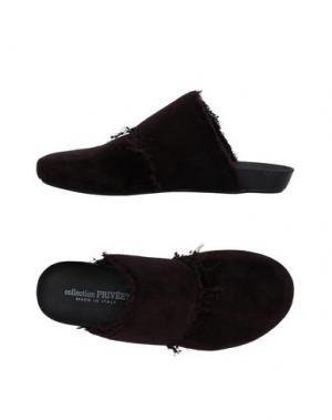 Домашние туфли COLLECTION PRIVĒE?. Цвет: темно-коричневый
