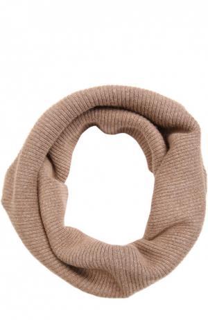 Вязаный шарф-снуд Pietro Brunelli. Цвет: светло-коричневый