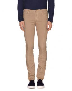 Джинсовые брюки ERMANNO SCERVINO. Цвет: песочный