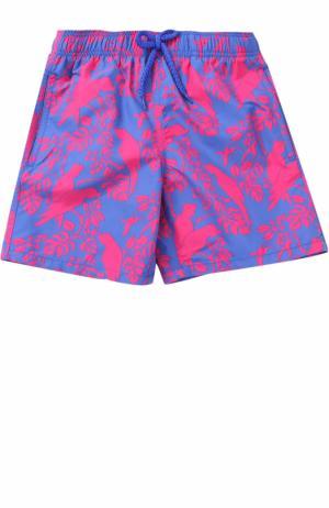 Плавки-шорты с принтом Vilebrequin. Цвет: синий