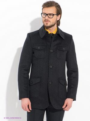 Пальто ABSOLUTEX. Цвет: темно-серый