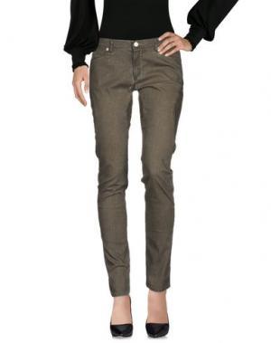 Повседневные брюки SUPERFINE. Цвет: зеленый-милитари
