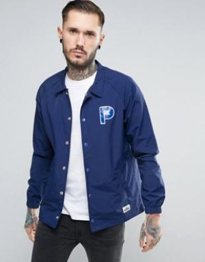 Penfield Темно-синяя спортивная куртка из нейлона с логотипом Howard. Цвет: темно-синий