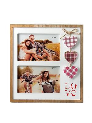 Фоторамка Любовь Русские подарки. Цвет: светло-коричневый