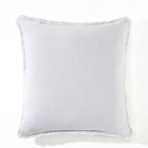 Чехол для подушки из льна/вискозы Odorie La Redoute Interieurs. Цвет: бежевый,белый,гранатовый,розовая пудра,серо-коричневый каштан,сине-зеленый,синий индиго,терракота,ярко-фиолетовый