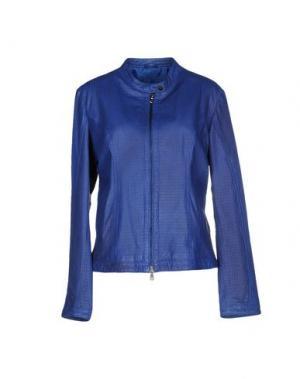 Куртка COMPAGNIA DELLE PELLI. Цвет: ярко-синий