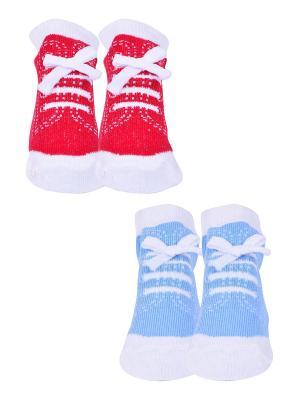 Носки, 2 пары Malerba. Цвет: голубой, красный