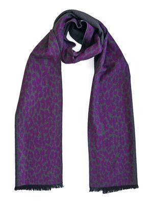 Мужской шарф LANYINGDI ША-22 30*180 100% шелк. Цвет: фиолетовый, серый