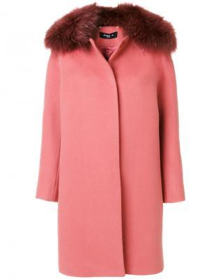 Пальто Paule Ka. Цвет: розовый и фиолетовый