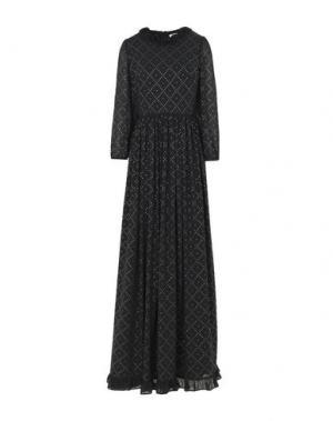 Длинное платье MANOUSH. Цвет: черный