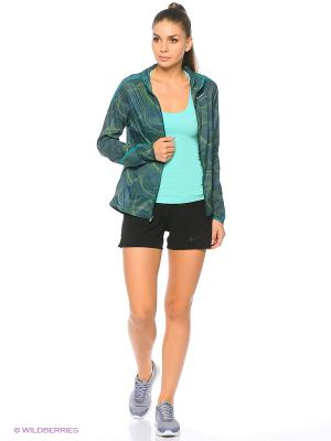 Ветровка W NK SHLD IMP LT JKT HD PR Nike. Цвет: зеленый, темно-зеленый