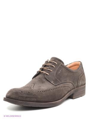 Туфли ECCO. Цвет: темно-коричневый