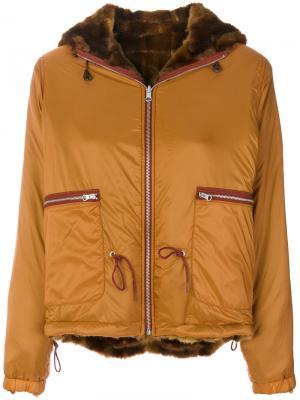 Куртка-бомбер с капюшоном Bellerose. Цвет: коричневый