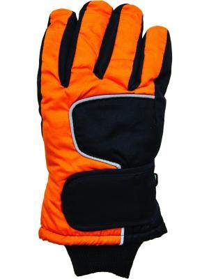 Перчатки YO!. Цвет: черный, оранжевый
