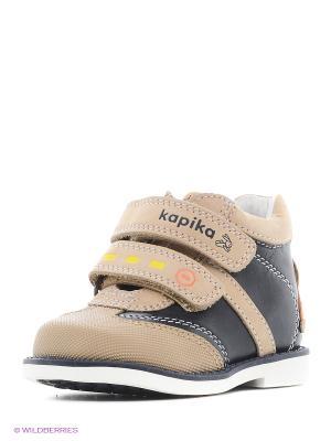 Ботинки Kapika. Цвет: темно-бежевый, бледно-розовый, хаки