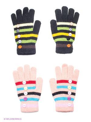 Перчатки, 2 пары FOMAS. Цвет: черный, бледно-розовый