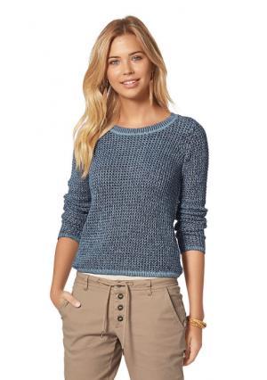 Пуловер AJC. Цвет: индиго/темно-синий, коралловый/оранжевый