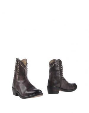 Полусапоги и высокие ботинки MR. WOLF. Цвет: темно-коричневый