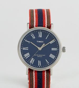 Timex Двусторонние часы с синим циферблатом Fairfield Avenue эксклюзив. Цвет: мульти