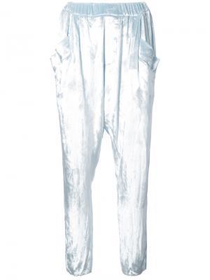 Зауженные бархатные брюки Baja East. Цвет: синий