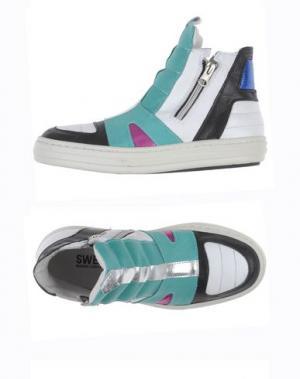 Высокие кеды и кроссовки SWEAR-LONDON. Цвет: светло-зеленый