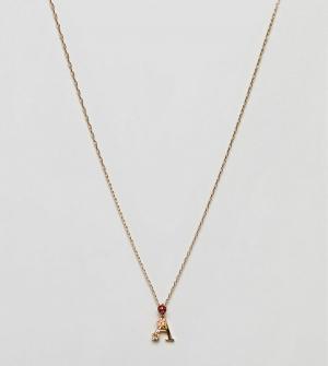 Bill Skinner Ожерелье с подвеской А. Цвет: золотой