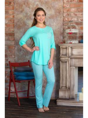 Домашний костюм Mia Cara. Цвет: бирюзовый, салатовый, светло-зеленый