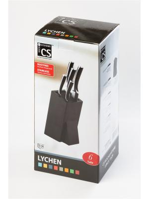 Набор ножей серии LYCHEN, 6 предметов Koch Systeme. Цвет: черный, серебристый