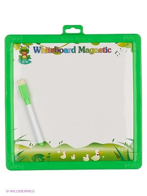 Доска для рисования двухсторонняя Часы Amico. Цвет: зеленый