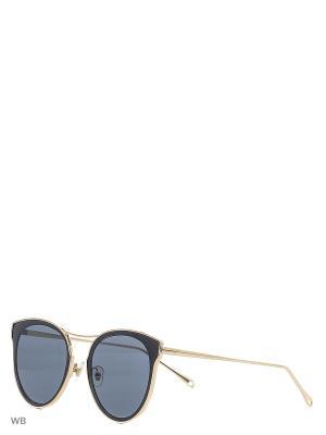 Солнцезащитные очки Vita pelle. Цвет: золотистый, черный