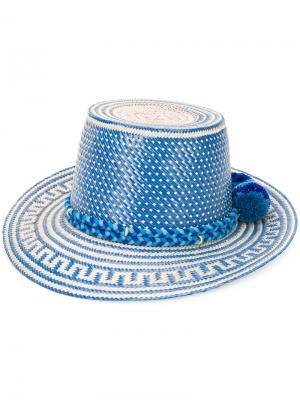 Шляпа с помпоном  Stela Winter Sky Yosuzi. Цвет: телесный