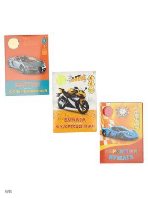 Набор для творчества №3 КОМПЛЕКТЫ Канц-Эксмо. Цвет: оранжевый, желтый