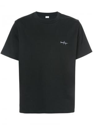 Укороченная футболка Second/Layer. Цвет: чёрный
