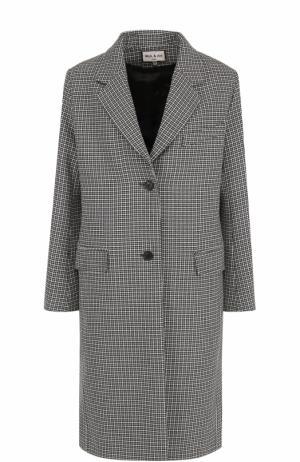 Пальто прямого кроя на двух пуговицах Paul&Joe. Цвет: серый