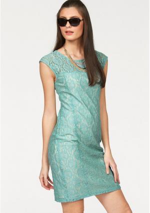 Платье-футляр BRUNO BANANI. Цвет: бирюзовый/бежевый, молочно-белый/бежевый, темно-синий, фуксия, черный