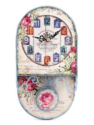 Часы настенные Русские подарки. Цвет: бежевый, красный, синий