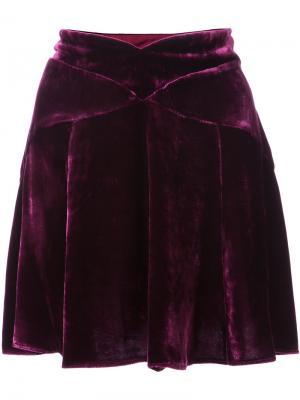 Мини-юбка с фигурным поясом Anna Sui. Цвет: розовый и фиолетовый