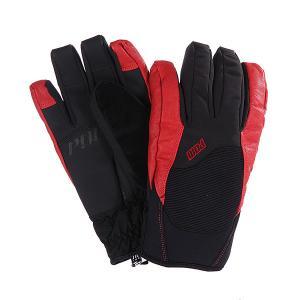Перчатки сноубордические  Mega Glove Red Pow. Цвет: черный,красный