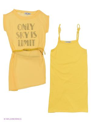 Блузка Nota Bene. Цвет: желтый