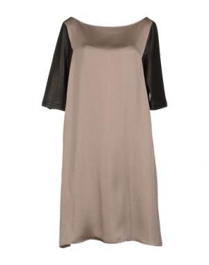 Короткое платье TER ET BANTINE. Цвет: голубиный серый