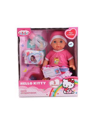 Пупс  Hello Kitty 35см с 3-мя функциями. Карапуз. Цвет: розовый