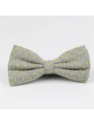 Галстук-бабочка Churchill accessories. Цвет: серый, темно-серый, желтый