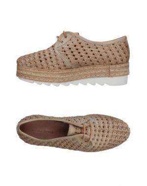 Обувь на шнурках ANGELA GEORGE. Цвет: бежевый