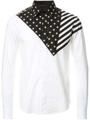 Рубашка с принтом Yoshio Kubo. Цвет: белый